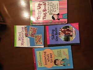 American Girl books and activity's