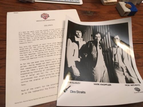 DIRE STRAITS MAKING MOVIES  RARE PRESS KIT 1980 Orig w/Photo Warner Bros