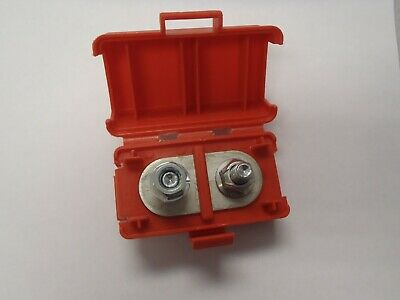 Red 516 Stud Dual Terminal Block Covered Lid Battery Junction Box Distribution