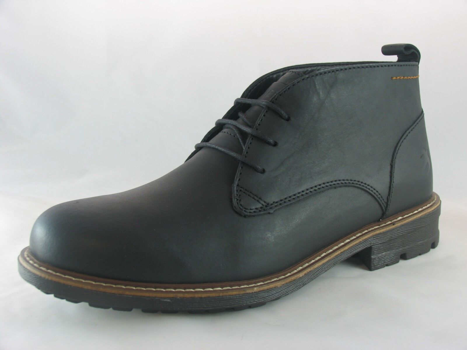 49ad52a82f672 Men's Brakeburn Chukka Boot Black/Brown Leather Ankle Boots UK 7-12 ...