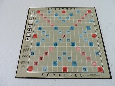 """1948 Scrabble Game Board Only Original Replacement Folding 14"""" Across"""