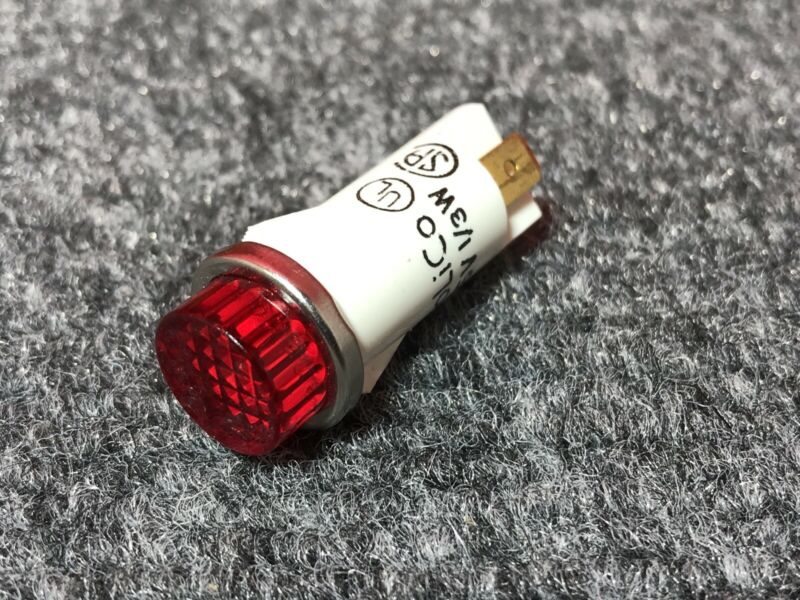 Solico Red Circular Panel Mount Indicator Light - 125V 1/3 Watt - Round Light