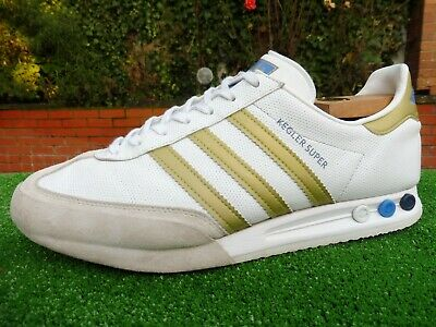 VINTAGE 2010 ADIDAS ORIGINALS KEGLER SUPER LEATHER MENS TRAINERS SIZE UK 12