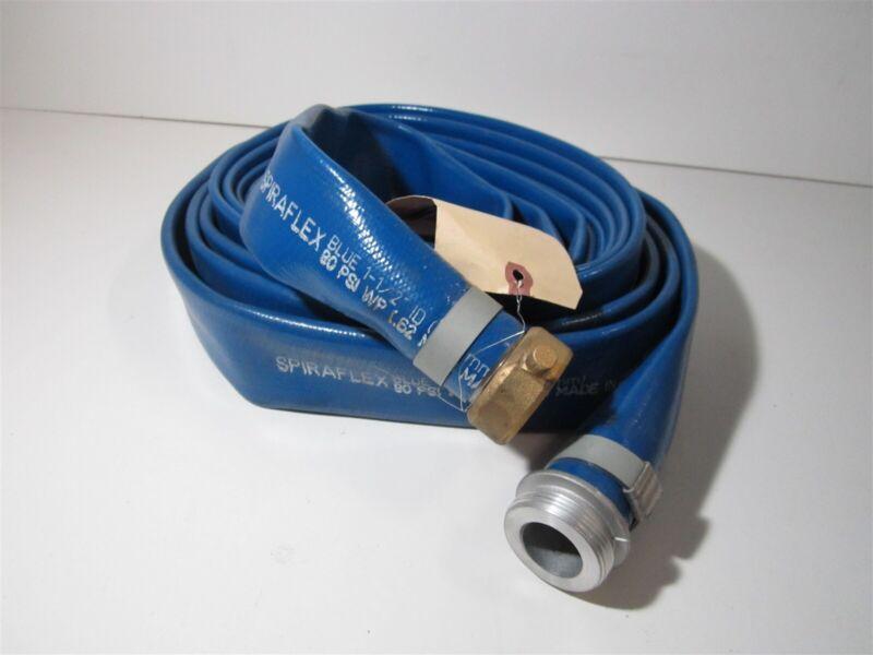 "Goodyear Spiraflex PVC 1-/12""ID x 1-43/64""OD Aluminum 90PSI Discharge Hose - 25"