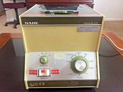 Dade Immufuge 569 Cell Washing Cell Prep Centrifuge With 12 Place Rotor