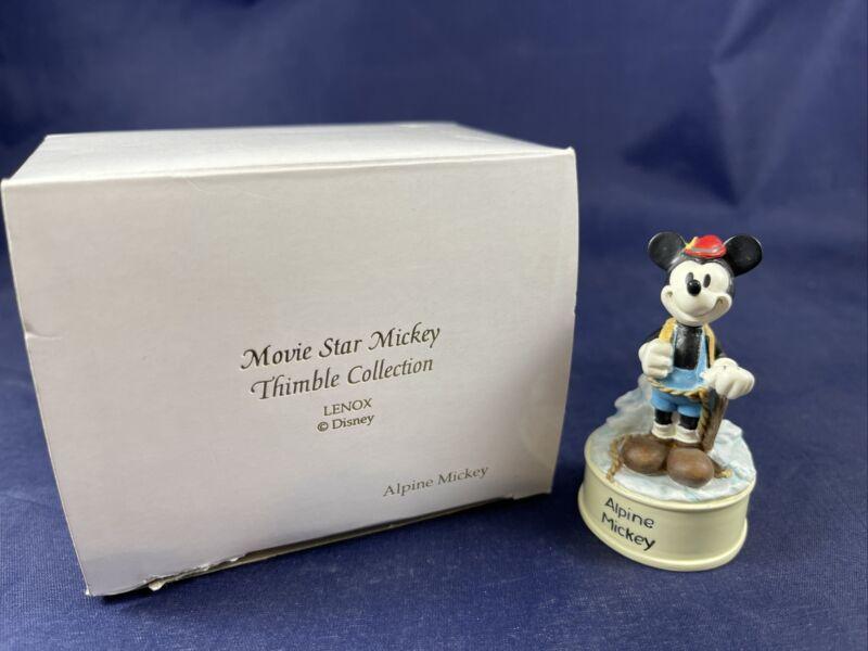 Lenox & Disney Movie Star Mickey Thimble Collection Alpine Mickey With Box