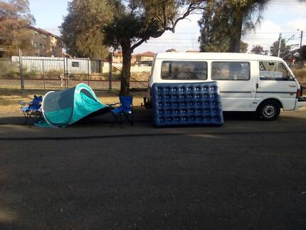 reliable 5seat van,10month rego,bed,camping equipment