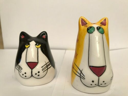 Catzilla Salt & Pepper Shakers  - Black and Yellow