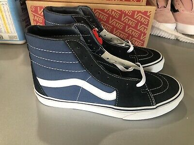 VANS SK8-HI NEW NAVY BLUE SIZE 8.5 11.5 SUEDE AND CANVAS CLASSIC SKATE HIGH