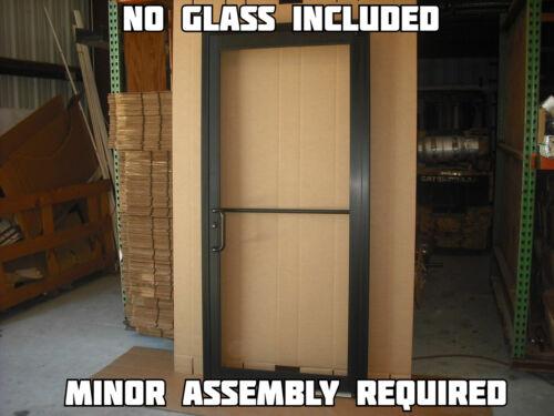 COMMERCIAL ALUMINUM STOREFRONT DOOR, FRAME & CLOSER, 3