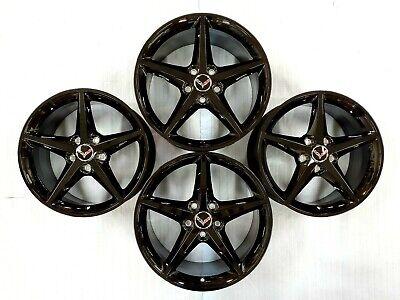 Chevrolet Corvette Gloss Black Wheels Rims Factory OEM C6 2005-2013 5592 5596