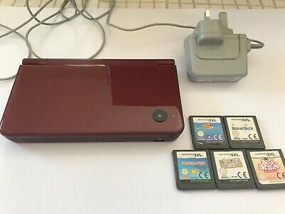 Nintendo dsi xl console wine red With Charger And Games
