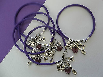 5   Lupus And Fibromyalgia Awareness Bracelets W Spoon Butterfly Hope Charms