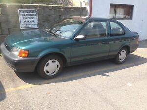 Toyota Tercel 1997 automatique  148000 km original 2600.00