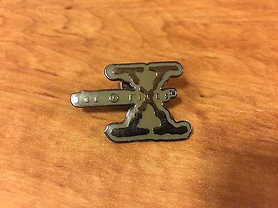 """""""The Xfiles """" (X with Banner) lapel pin"""