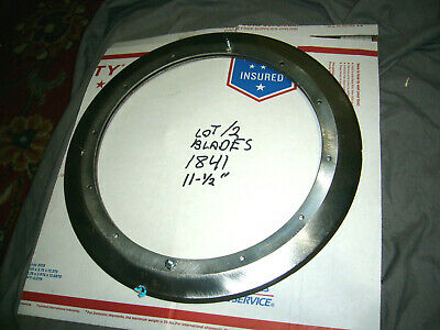 Commercial Meat Slicer Ring Blades Globe Set Of 2 11-14 Good Cond