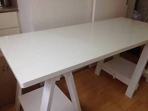 FREEDOM Stationers Trestle Table Desk in White Cremorne Point North Sydney Area Preview
