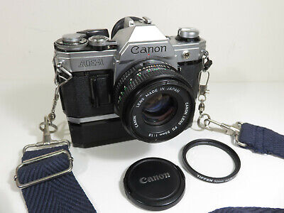 CANON AE-1 PROGRAM Camera With CANON FD 50mm 1:1.8 Lens Only $0.01!!! 👀🔥