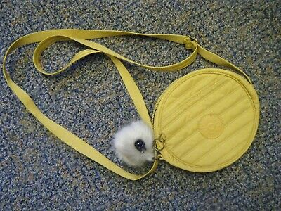Kipling mustard yellow circular Cross Body / Shoulder Bag new without tags