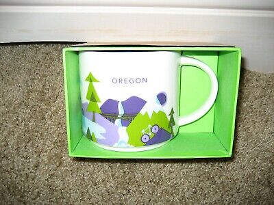 Starbucks Coffee Mug Oregon You Are Here Collection 2016 NWT Box