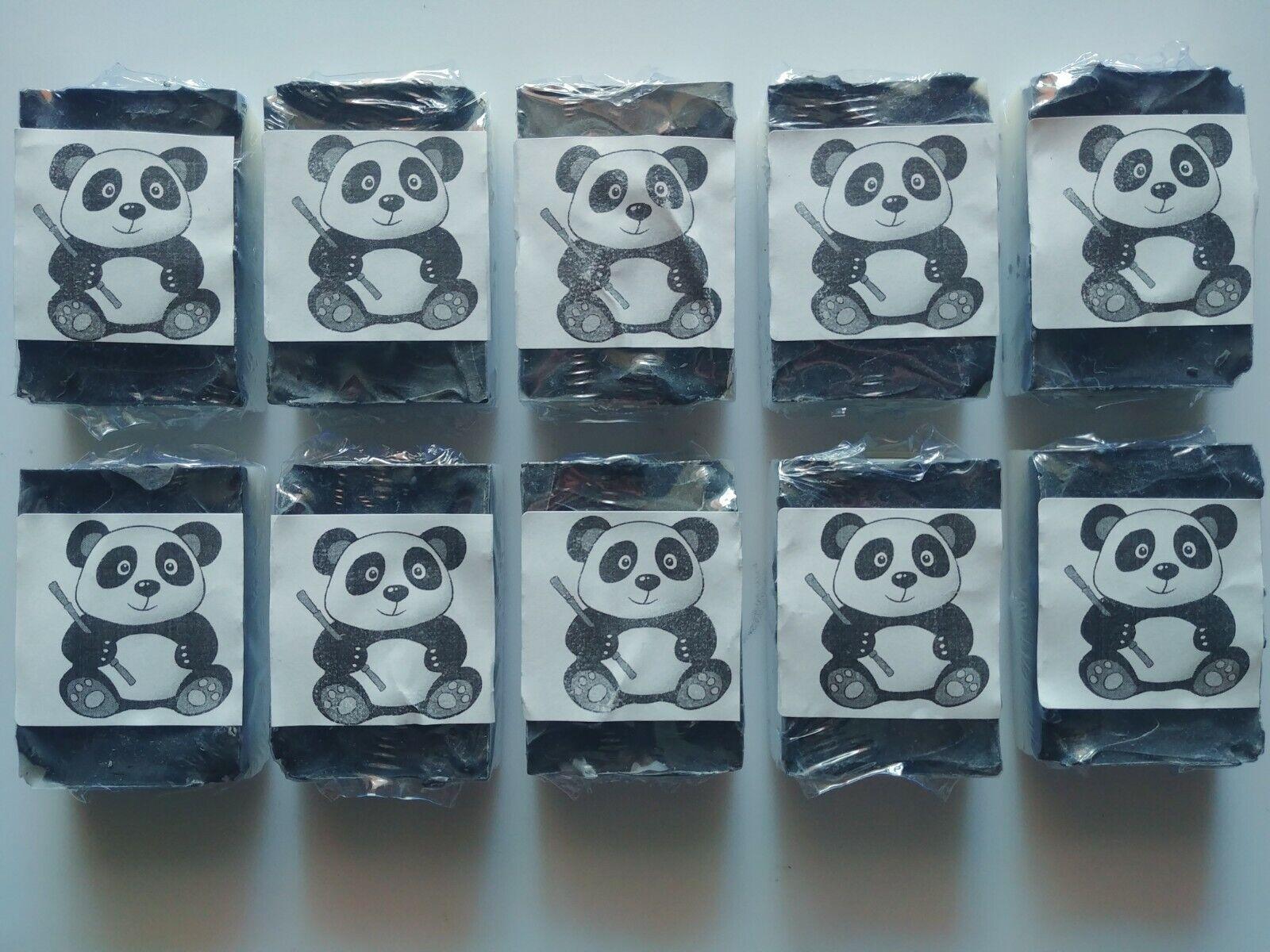 10 x Panda Bar Soap - Coconut Oil & Charcoal Unscented Homem