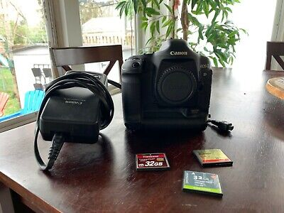 Canon EOS 1D Mark II Digital SLR Body, Battery, Charger, 3 CF Cards & Reader