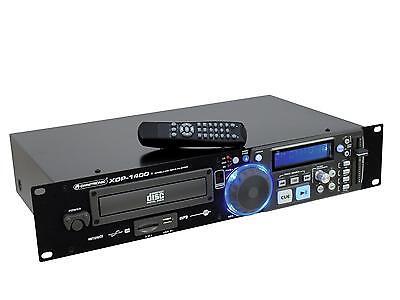 OMNITRONIC XDP-1400 Profi CD-/MP3-Player CD- und MP3-Player für CD, USB und SD