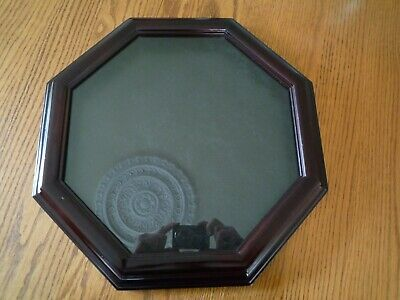 Wood Octagon Shaped Shadow Box Frame with Glass 16