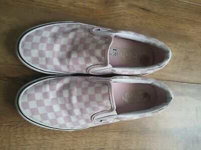 Checkerboard Vans Size 6 Pink