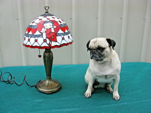 Betty Boop Stained Glass Lamp