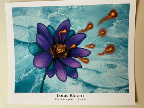 Lotus Bloom - by Christopher Rush a Magic the Gathering Art Print - High Quality