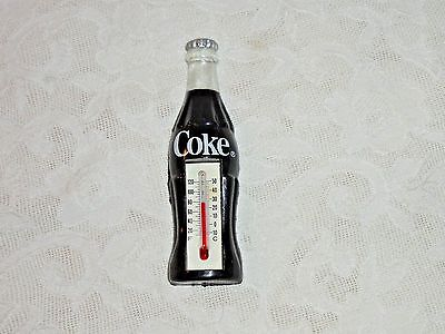"""WORKING 4"""" COCA-COLA PLASTIC BOTTLE THERMOMETER MAGNET"""