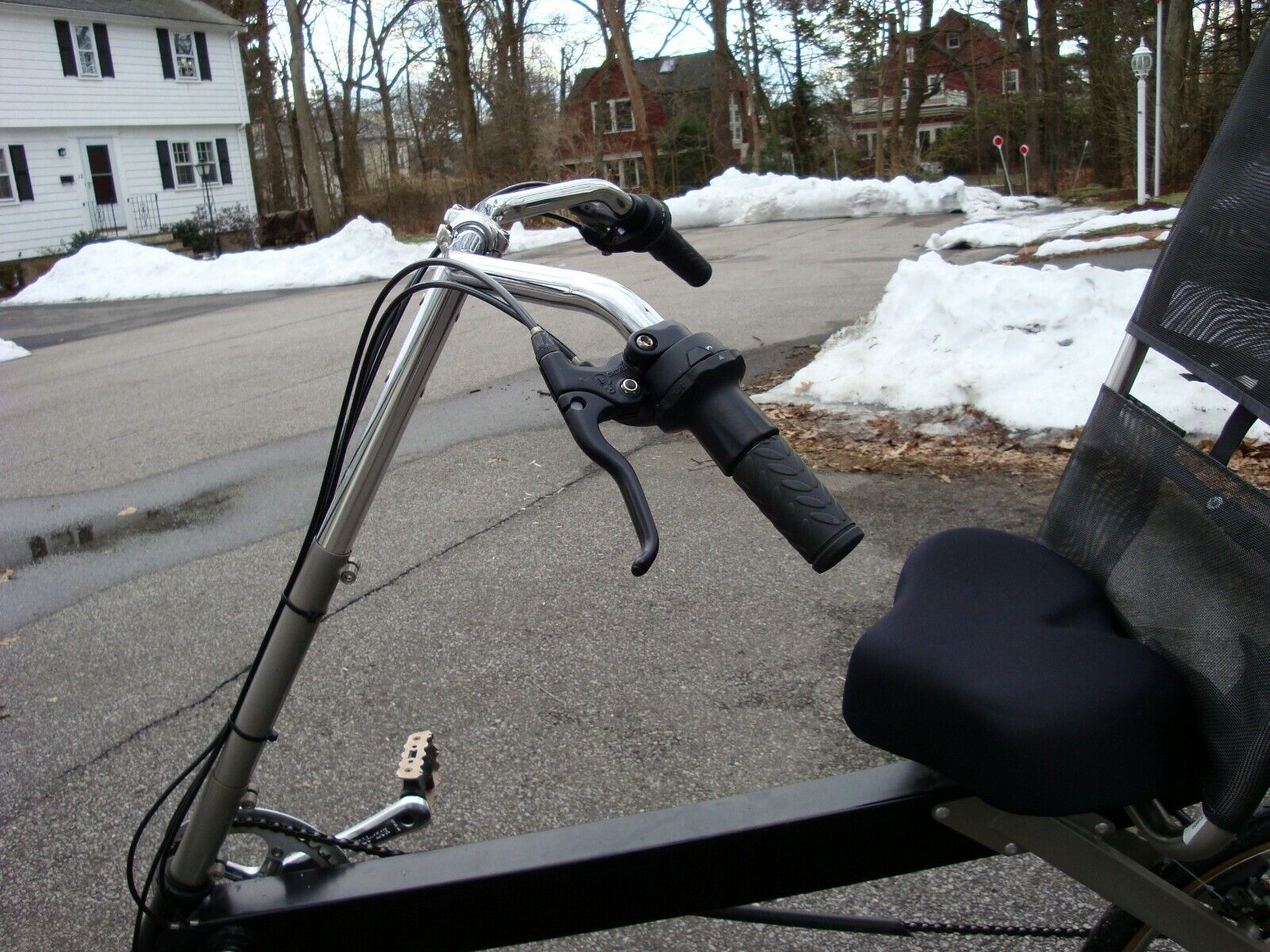 Bike-E Recumbent Cruising/Touring bars Extremely helpful for
