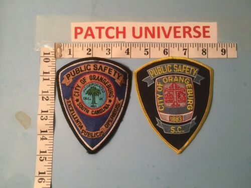LOT OF 2 DIFFERENT ORANGEBURG SC PUBLIC SAFETY SHOULDER PATCHES C030