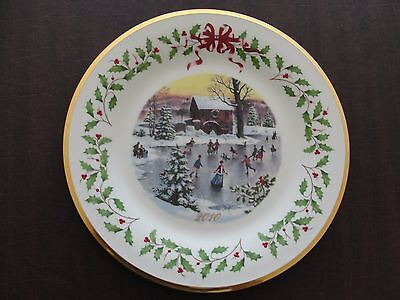 Lenox Annual Holiday Collector Plate 2010 Twentieth In Series 10 3 4  B964 K