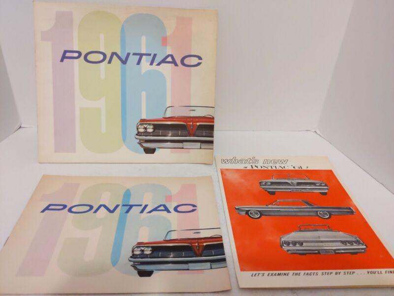 1961 Pontiac Brochures Flyers Bonneville Star Chief Catalina Ventura Safari