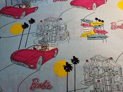 100% Cotton Mattel Barbie Dreamhouse and Car Fabric VIP by Cranston 1/2 Yard
