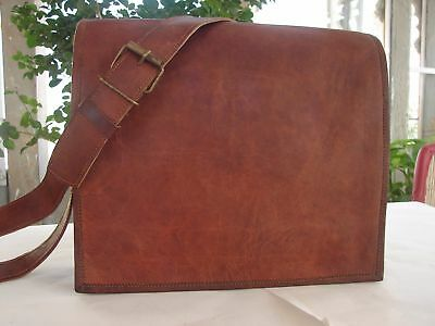 Men's Genuine Leather Messenger for laptop, office, book School Bag 304