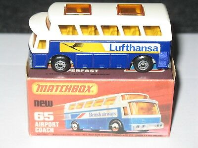 MATCHBOX LESNEY AIRPORT COACH – LUFTHANSA MB 65B-12 (MIB)