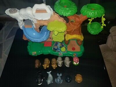 Fisher Price Little People Zoo Talkers Tree House Jungle 2011 Works /9 Animals