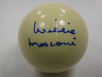 WILLIE MOSCONI SIGNED PSA/DNA CERTIFIED AUTHENTIC CUE BILLIARD BALL AUTOGRAPHED