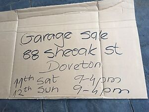 Big Garage Sale - Everything Must Go !!! Doveton Casey Area Preview