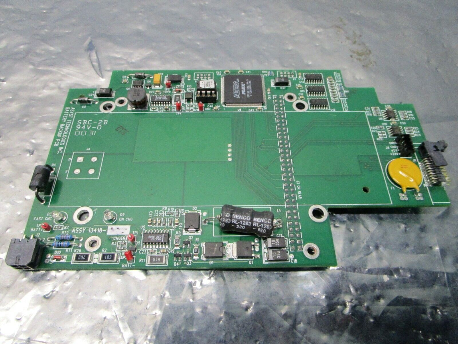 Asyst 13418-003 Battery Backup PCB, FAB 13417-001, 101180