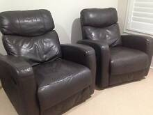 PRICE REDUCED: Nick Scali Leather Recliners x 2 Casuarina Tweed Heads Area Preview