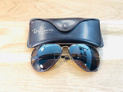 Vintage Ray Ban Aviators Leather Series B&L Sunglasses Bausch&Lomb USA 62mm B15 segunda mano  Embacar hacia Mexico