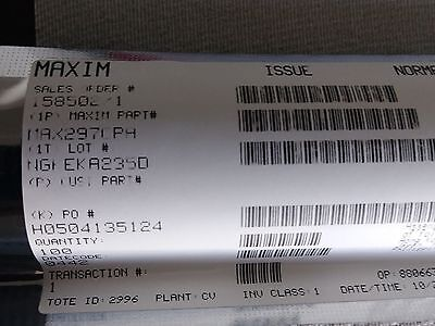 Maxim Dip-8 Max297cpa Active Filters 8th-order Lowpass Switched-cap Qty 50