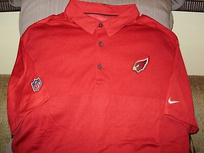 Arizona Cardinals Nfl Mens Coaches (NFL Arizona Cardinals NIKE Dri Fit Elite Coaches Red Polo Golf Shirt Men's 2XL )