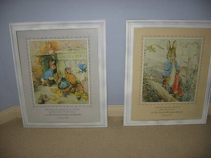 Vintage Peter Rabbit Pictures - large pair