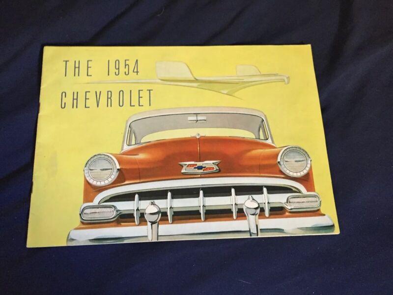 1954 Chevy Chevrolet Bel Air 150 210 Color Sales Brochure Catalog Prospekt