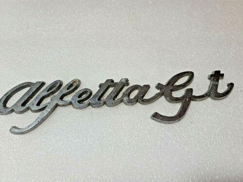 Vintage Alfetta GT Script Original Emblem